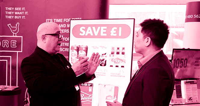 WANT TO GET HI? Paul Mercieca explains the benefits of Hi Street Digital's electronic signage